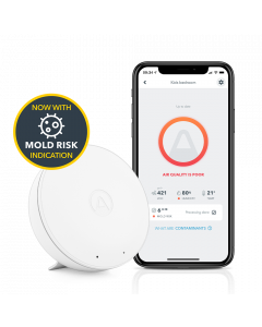 Airthings Wave Mini - Smart TVOCs, temperature, humidity and mold risk monitor